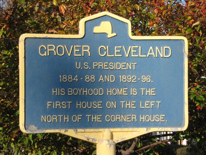 Grover Cleveland Boyhood Home Marker image. Click for full size.