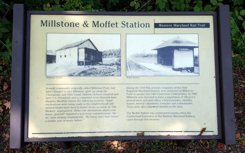 Millstone & Moffet Station Marker image. Click for full size.