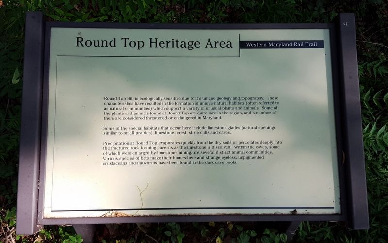 Round Top Heritage Area Marker image. Click for full size.
