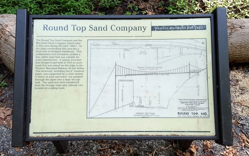 Round Top Sand Company Marker image. Click for full size.