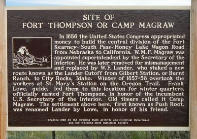 Site of Fort Thompson or Camp Magraw Marker image. Click for full size.