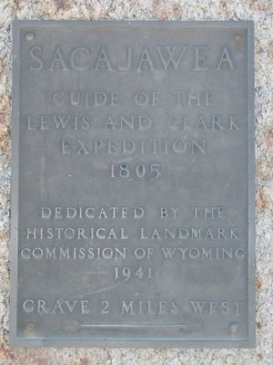 Sacajawea Marker image. Click for full size.
