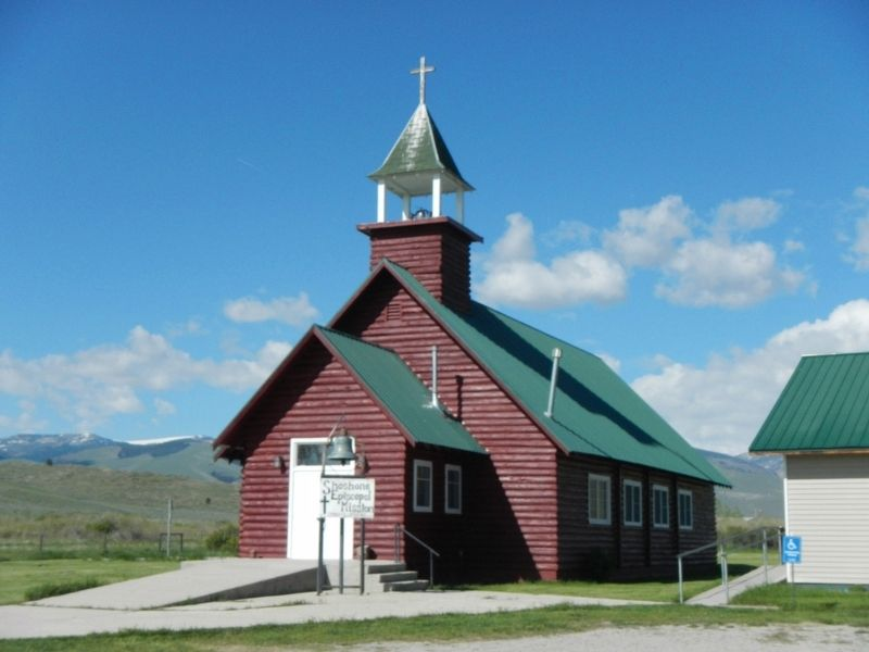 The Shoshone-Episcopal Mission Church image. Click for full size.