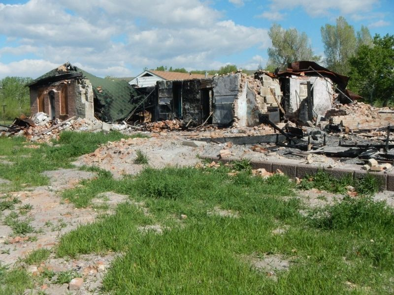 The Shoshone-Episcopal Mission Boarding School burned down a few months ago. image. Click for full size.