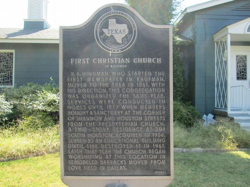 First Christian Church of Kaufman Marker image. Click for full size.