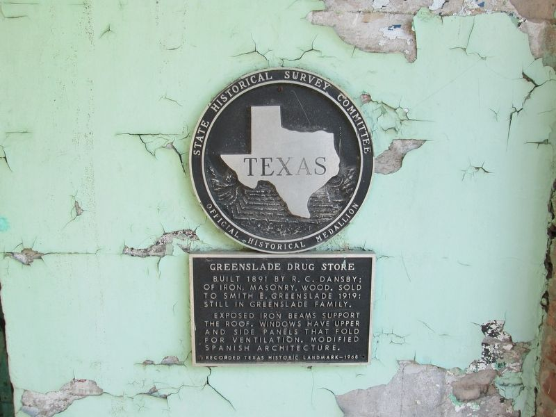 Greenslade Drug Store Marker image. Click for full size.