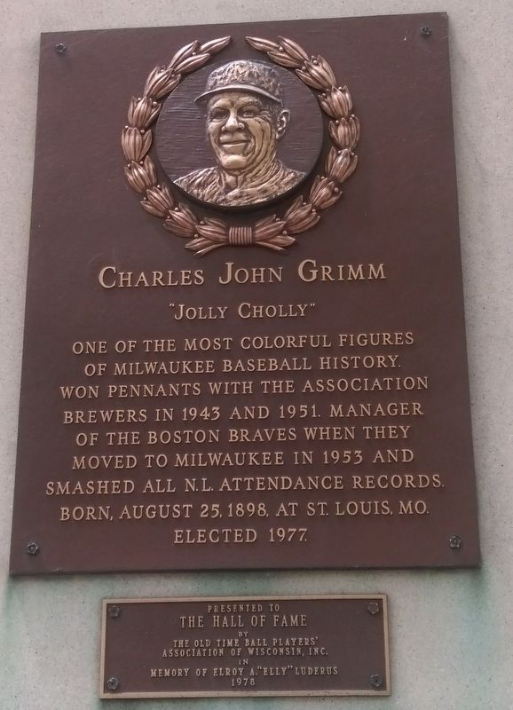 Charles John Grimm Marker image. Click for full size.
