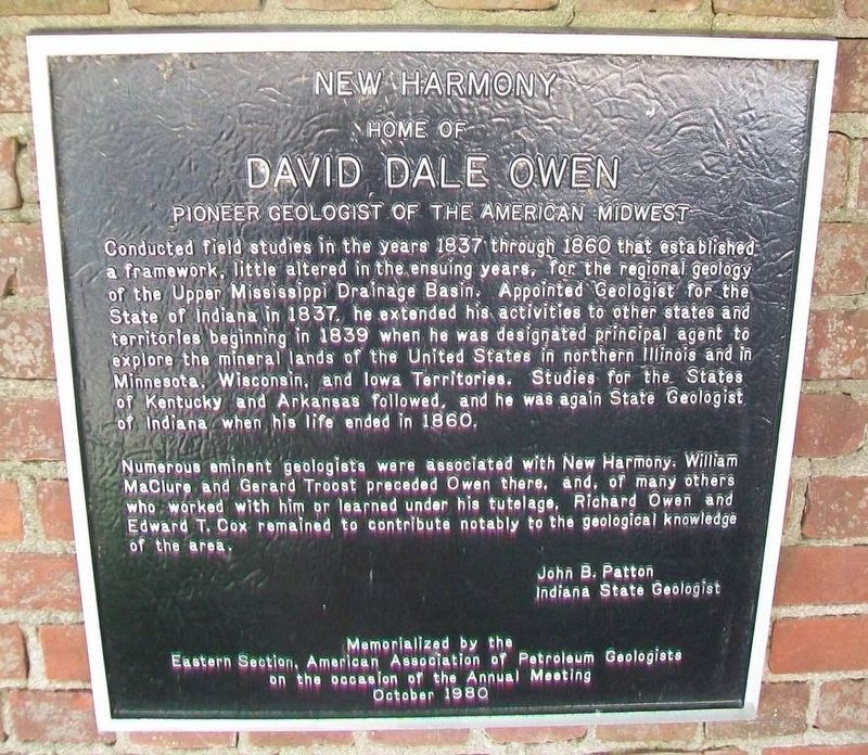 David Dale Owen Marker image. Click for full size.