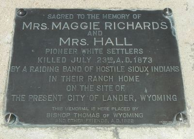 Mrs. Maggie Richards and Mrs. Hall Marker image. Click for full size.