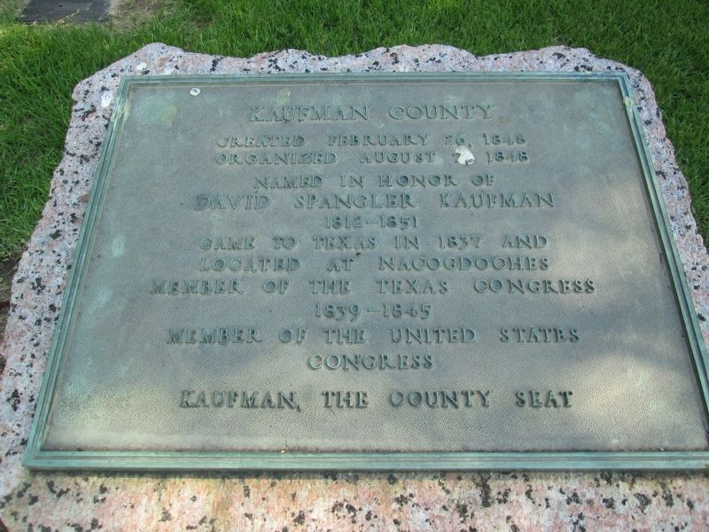 Kaufman County Marker image. Click for full size.