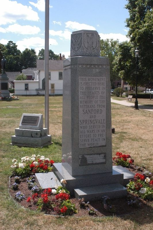 Sanford Maine War Memorial Marker image. Click for full size.