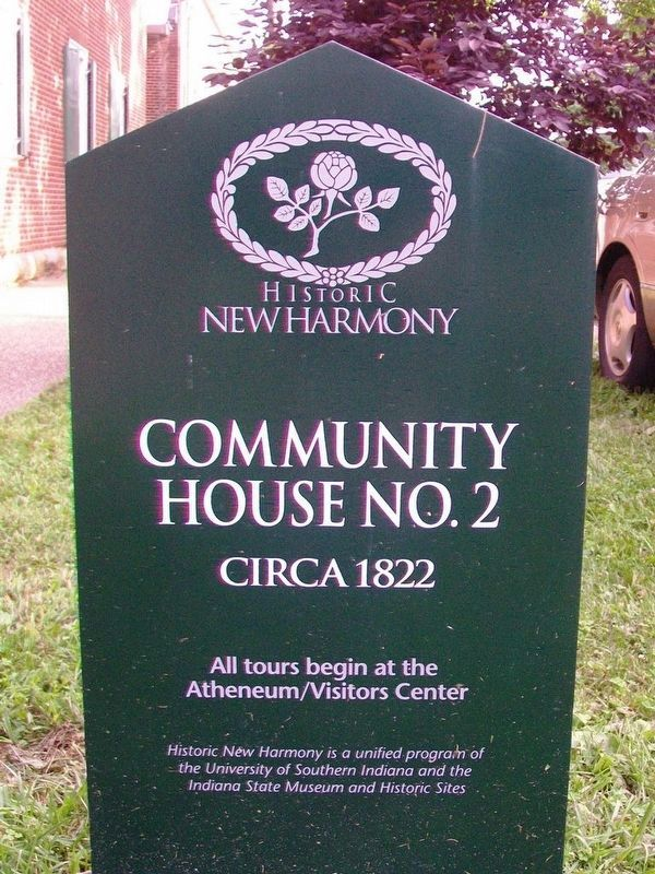 Community House No. 2 Sign image. Click for full size.