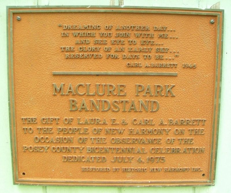 Maclure Park Bandstand Marker image. Click for full size.