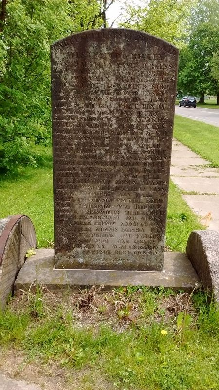 Early Settlers of Portland Marker (side 1) image. Click for full size.