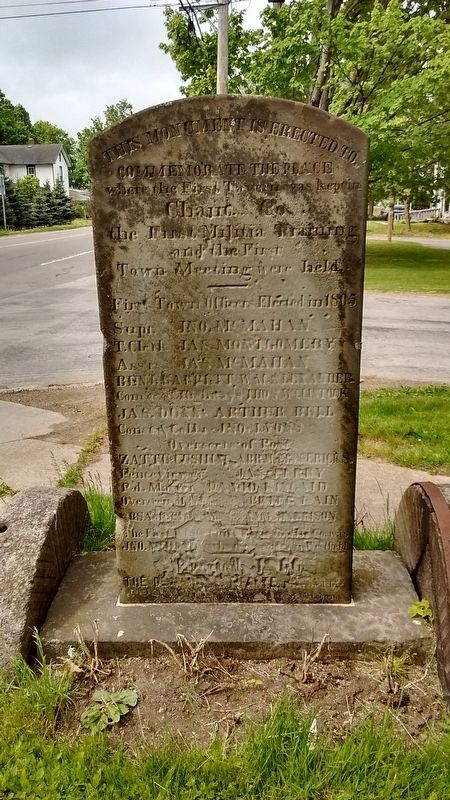 Early Settlers of Portland Marker (side 2) image. Click for full size.