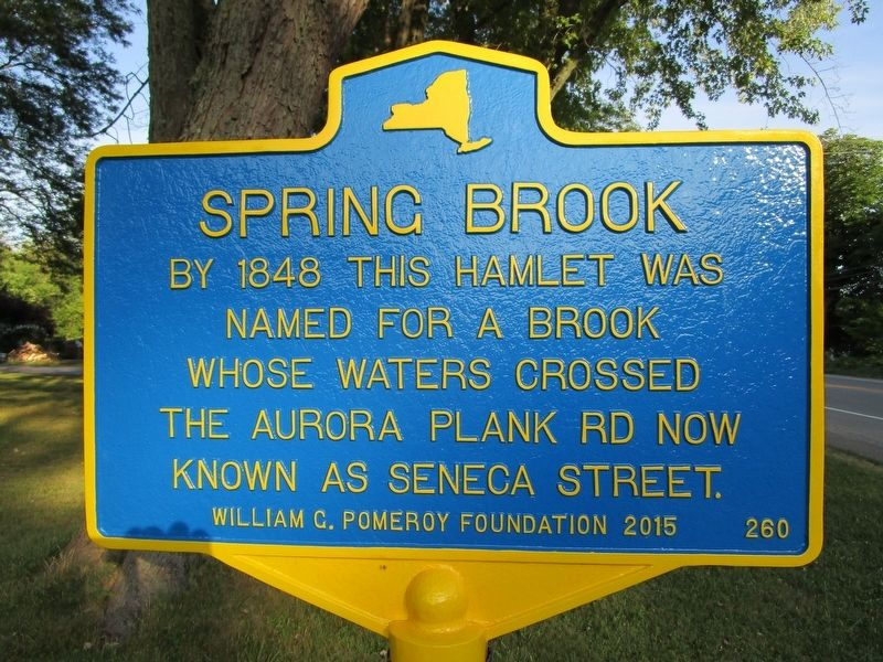 Spring Brook Marker image. Click for full size.