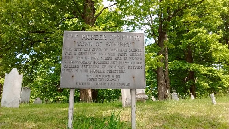 The Pioneer Cemetery Marker image. Click for full size.