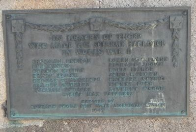 Fort Washakie World War II Veterans Memorial Marker image. Click for full size.