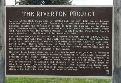 The Riverton Project Marker image. Click for full size.