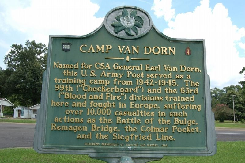 Camp Van Dorn Marker image. Click for full size.