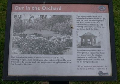 Out in the Orchard Marker image. Click for full size.