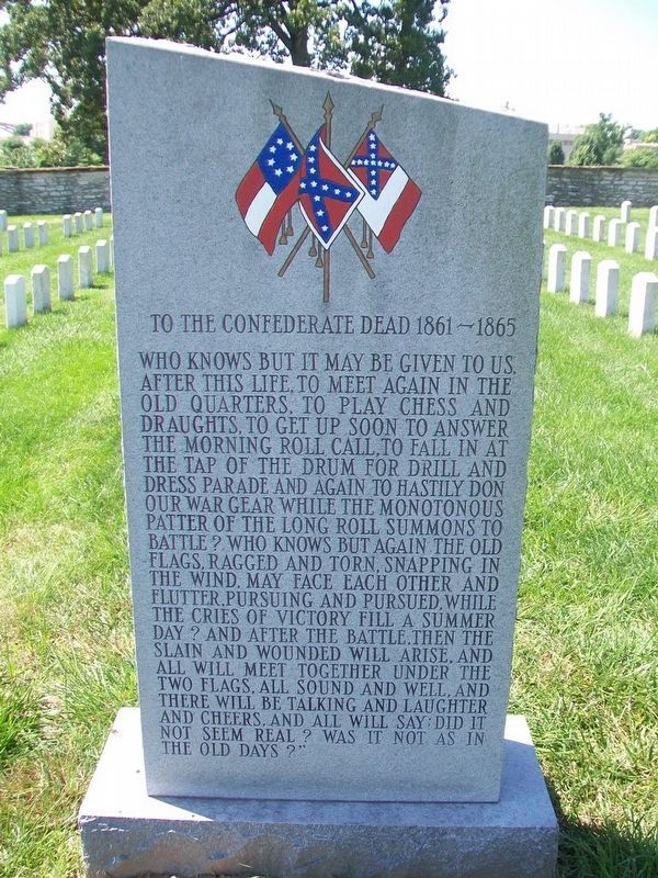 To The Confederate Dead 1861 - 1865 Monument image. Click for full size.