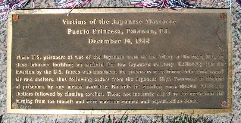 Victims of the Japanese Massacre Marker image. Click for full size.