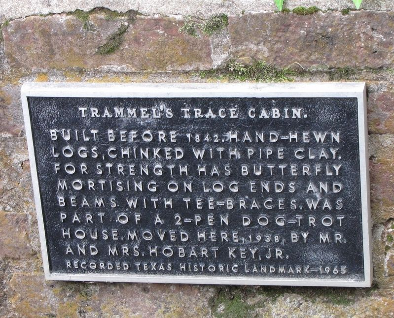 Trammel's Trace Cabin plate image. Click for full size.