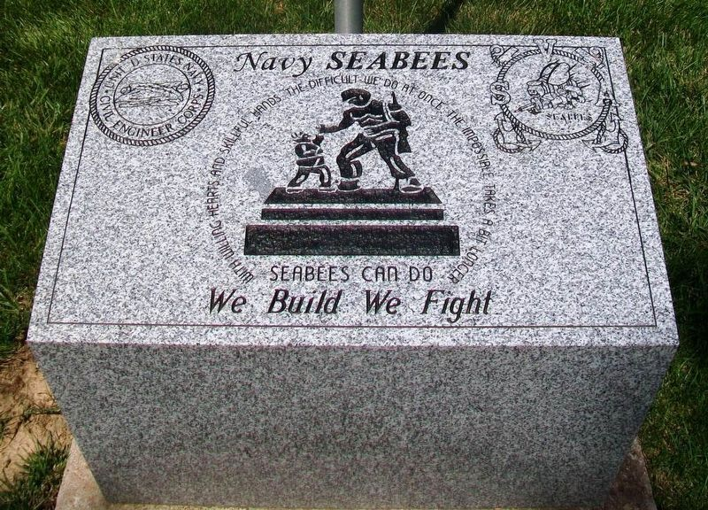 Navy Seabees Monument image. Click for full size.