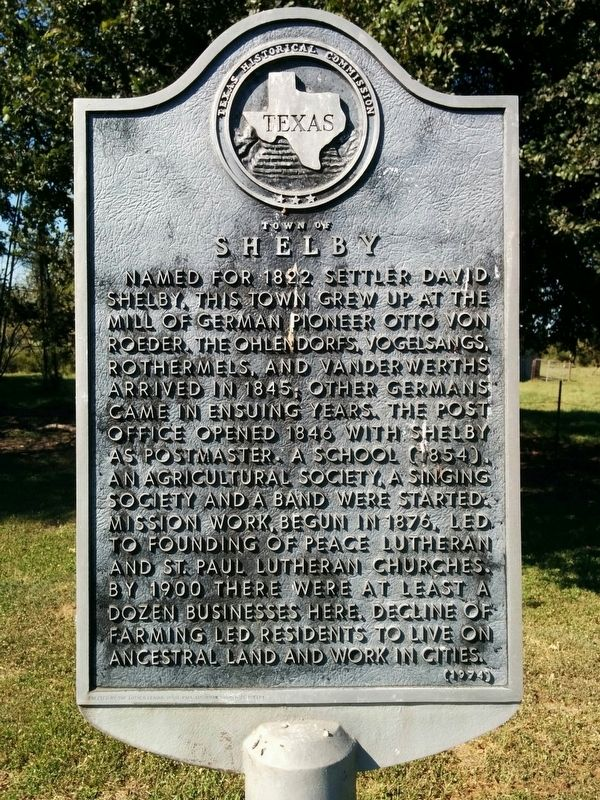 Town of Shelby Marker image. Click for full size.
