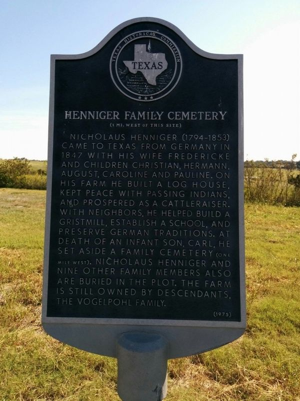 Henniger Family Cemetery Marker image. Click for full size.