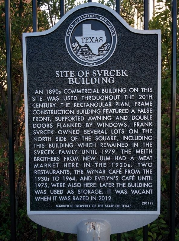 Site of Svrcek Building Marker image. Click for full size.