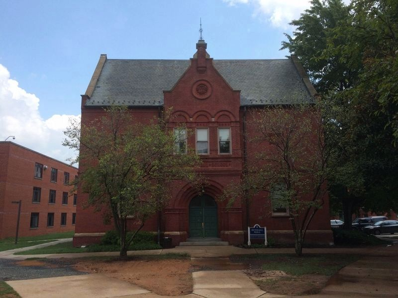 The Kendall School at Gallaudet University, mentioned on the marker. image. Click for full size.