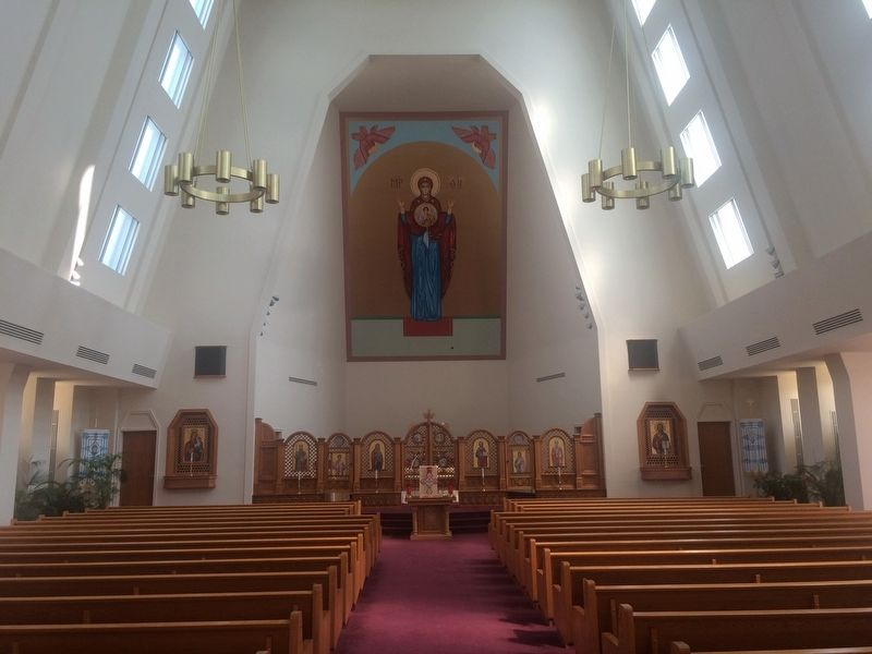 Interior of the Ukrainian Catholic National Shrine image. Click for full size.