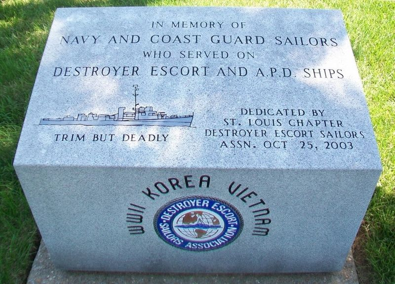 Destroyer Escort and A.P.D. Sailors Monument image. Click for full size.
