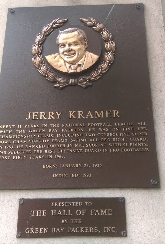 Jerry Kramer Marker image. Click for full size.