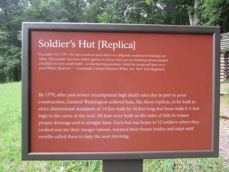 Soldier's Hut [Replica] Marker image. Click for full size.