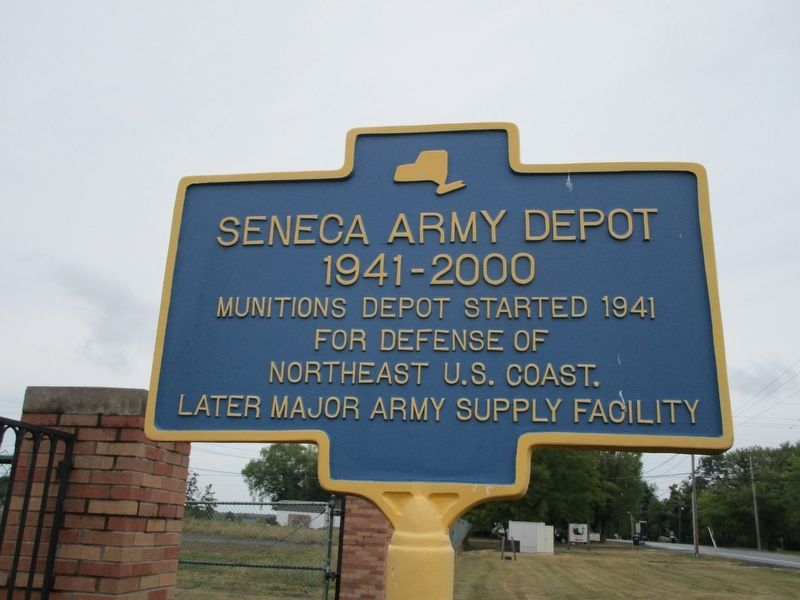 Seneca Army Depot Marker image. Click for full size.