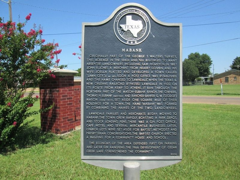 Mabank Marker image. Click for full size.