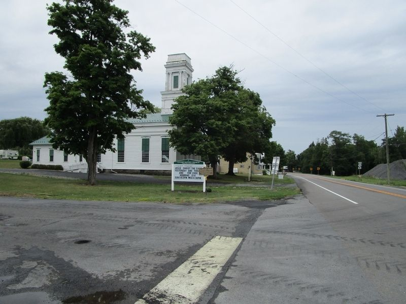 Old Baptist Church & Marker image. Click for full size.
