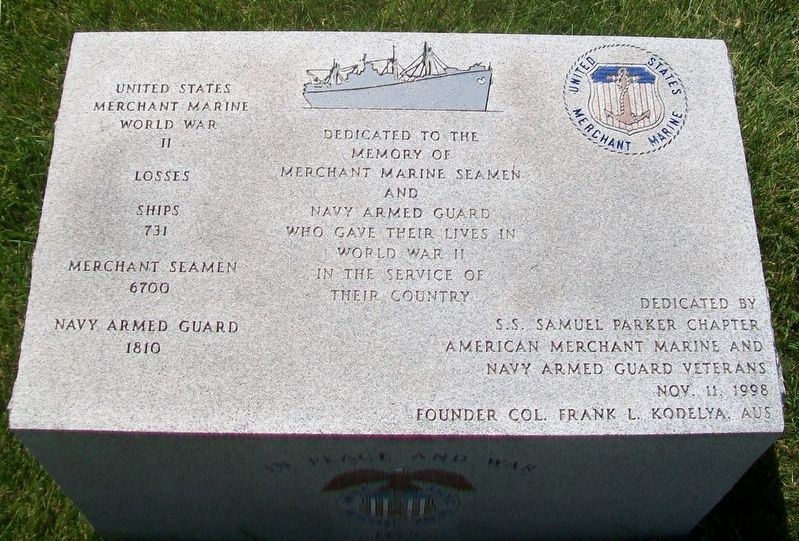 World War II Merchant Marine Seamen and Navy Armed Guard Memorial image. Click for full size.