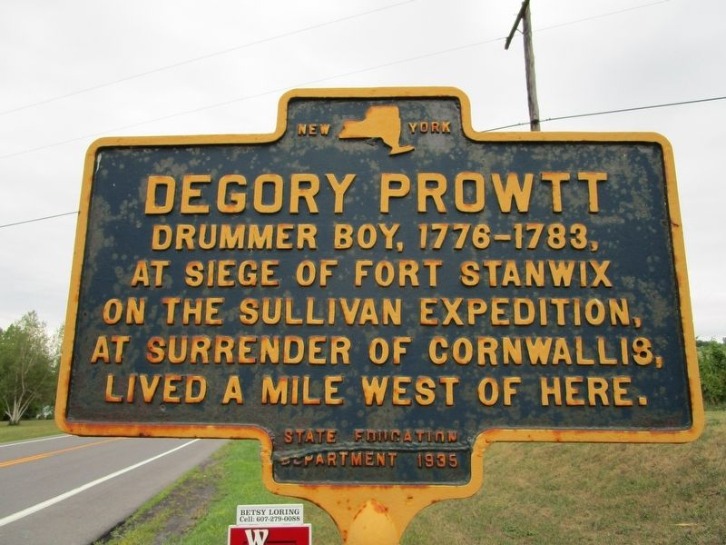 Degory Prowtt Marker image. Click for full size.