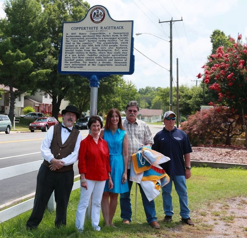 At the Unveiling of the Copperthite Racetrack Marker image. Click for full size.