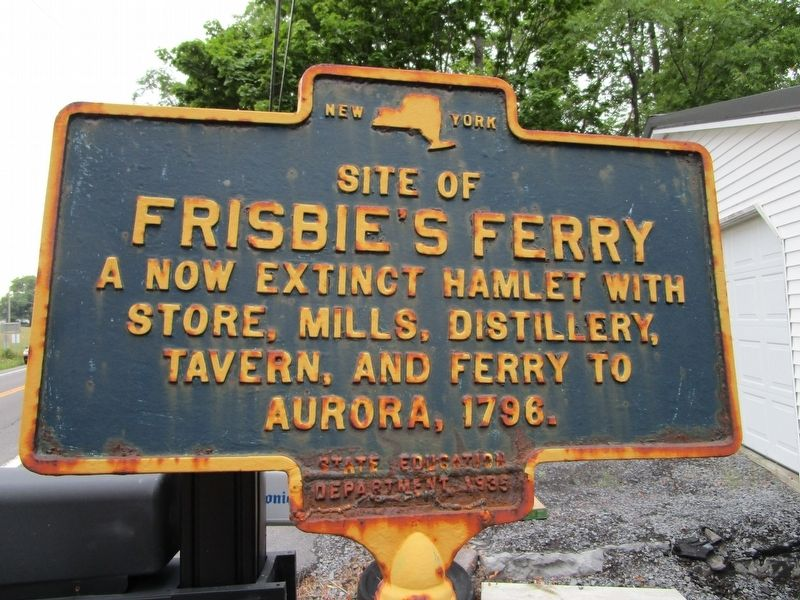 Site of Frisbie's Ferry Marker image. Click for full size.