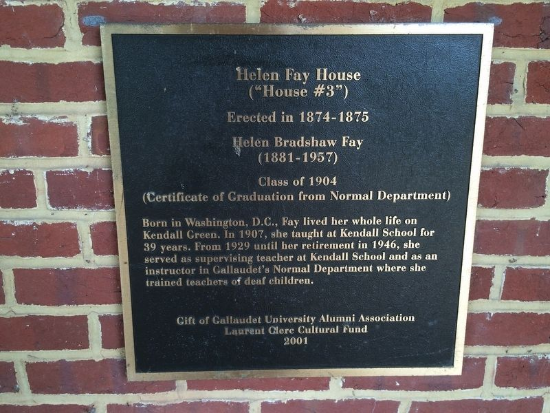 Helen Fay House Marker image. Click for full size.