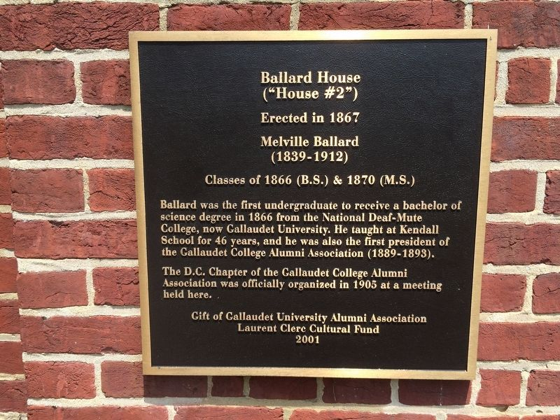 Ballard House Marker image. Click for full size.