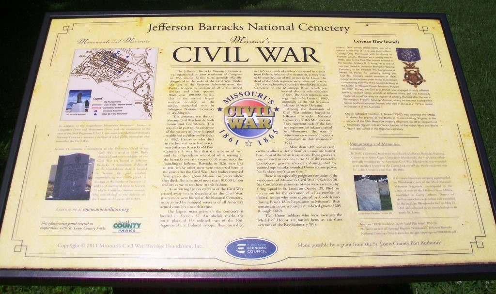 Jefferson Barracks National Cemetery Marker