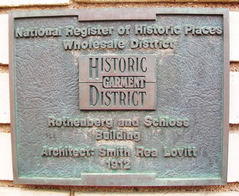 Rothenberg and Schloss Building Marker image. Click for full size.