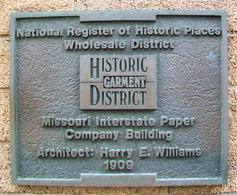 Missouri Interstate Paper Company Building Marker image. Click for full size.