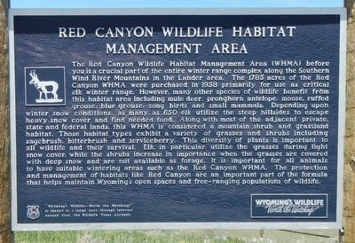Red Canyon Wildlife Habitat Management Area Marker image. Click for full size.